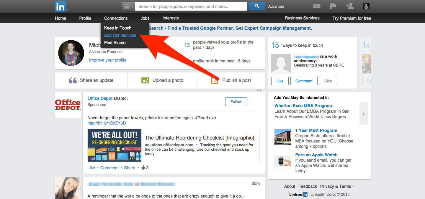 getting a career in the film industry through linkedin