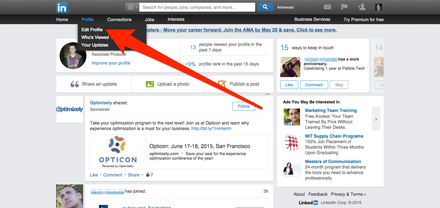 how to use linkedin to find a job 2015