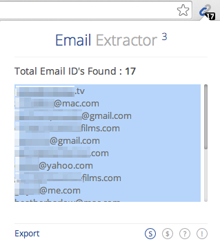 using email extractor to find jobs in the film industry